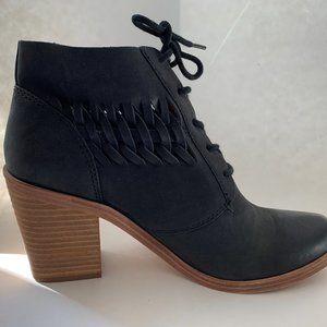 Modern Vintage Black Shoe Boots.  8M